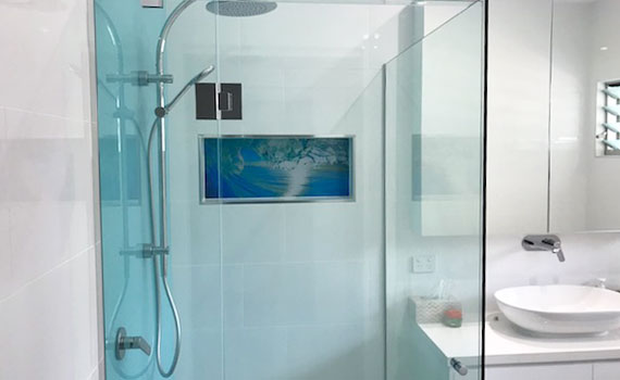 What We Do - Framless Glass Shower Screens Custom Design Display by DnD Glass Glazing Tweed Heads South